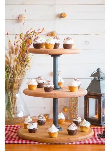 Joy Kitchen  Pastry 3 Katlı Yuvarlak Kek Standı - Borulu Renkli